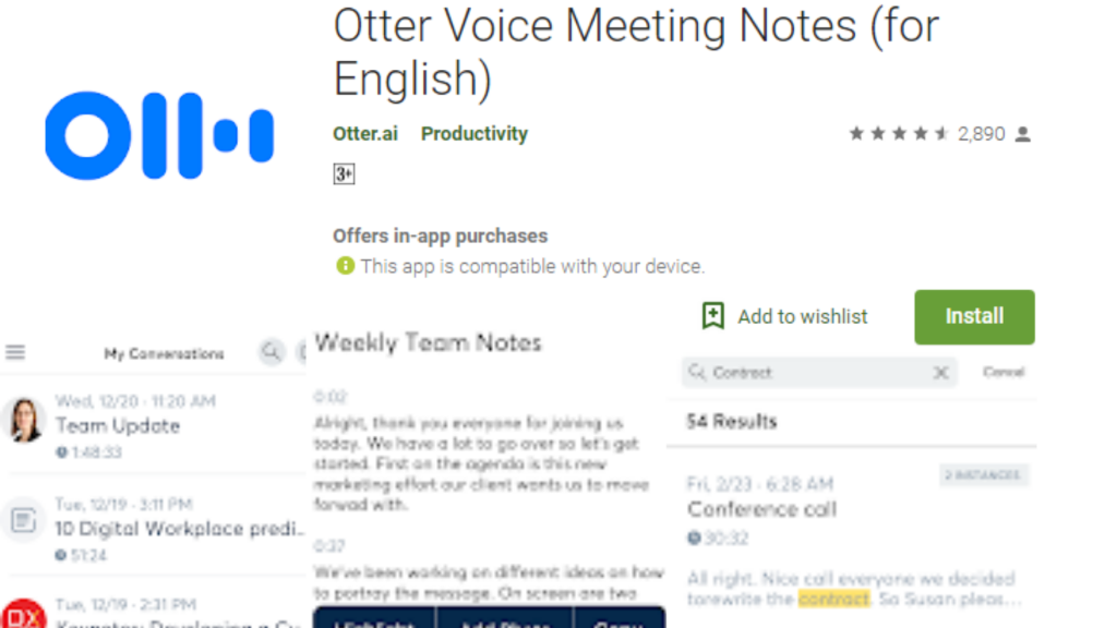 Otter Voice Recording App