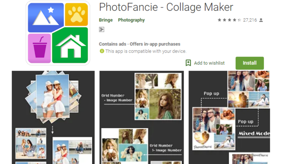 PhotoFancie Collage Maker Photo Editor App