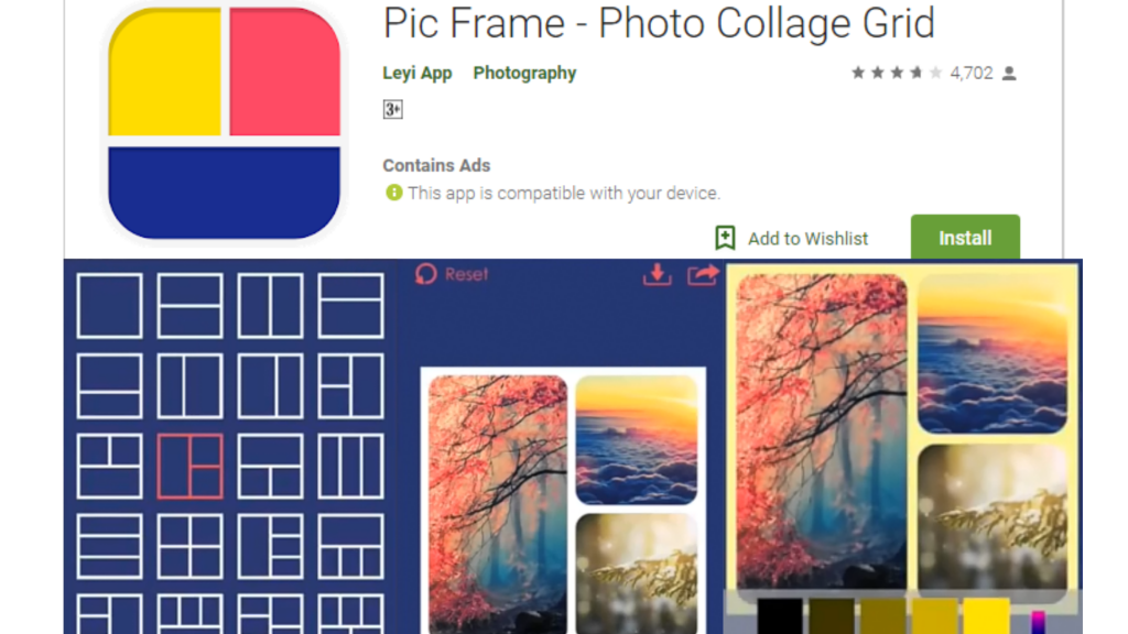 Pic Frame Collage Maker App