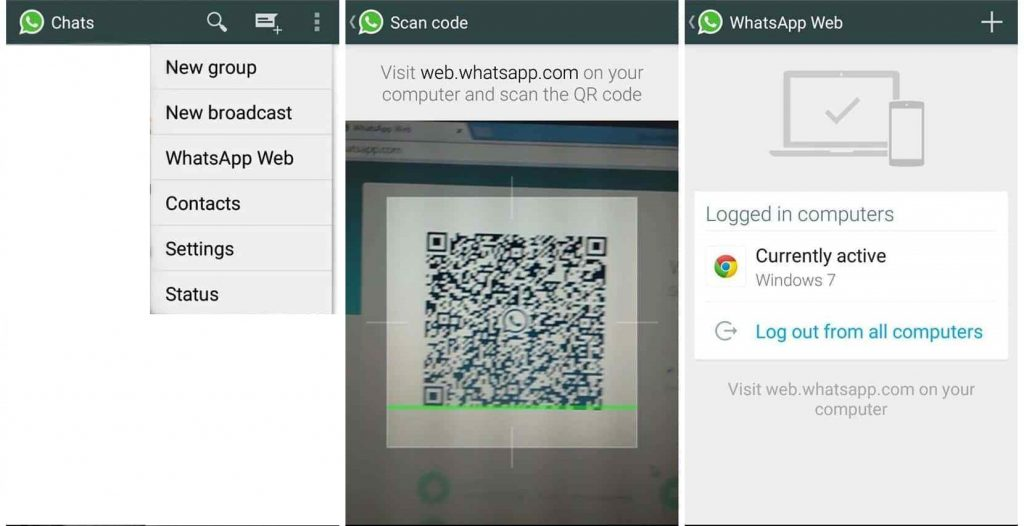 QR Code Authentication for WhatsApp