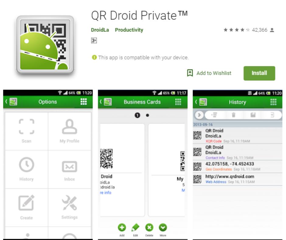 QR Droid Private™