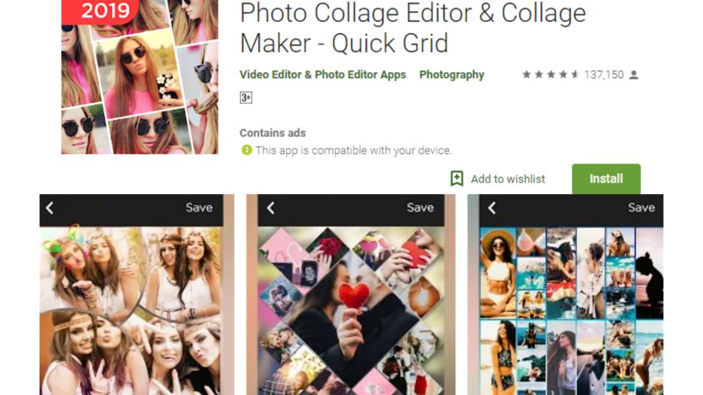 Quick Grid Collage Maker App