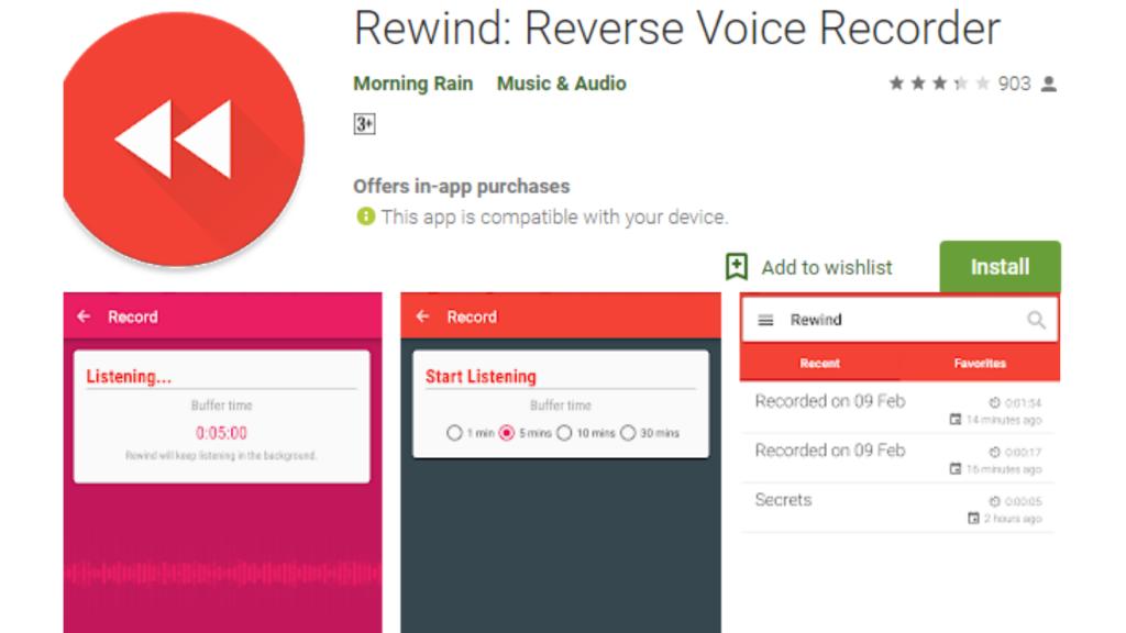 Rewind Voice Recorder App