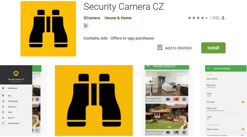 Camera an ninh Ứng dụng hàng đầu CZ
