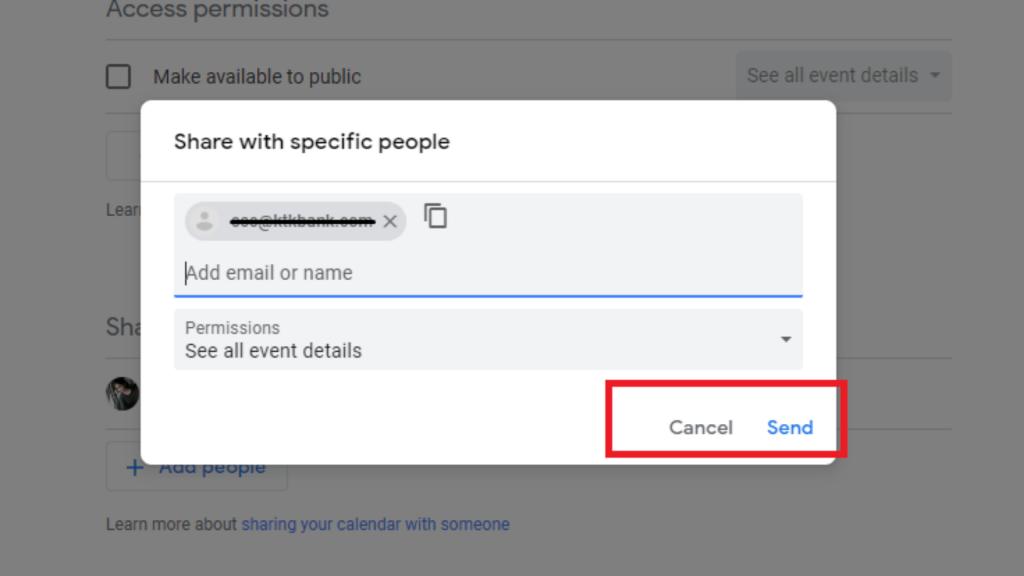 Send option