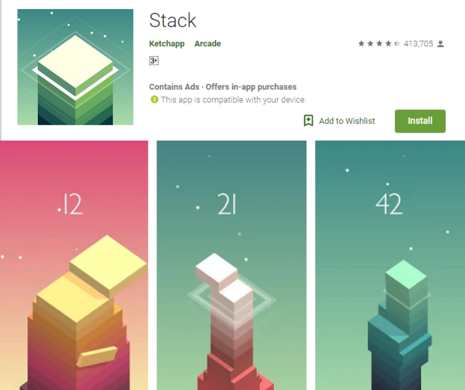 Stack Best Time Killers Games App