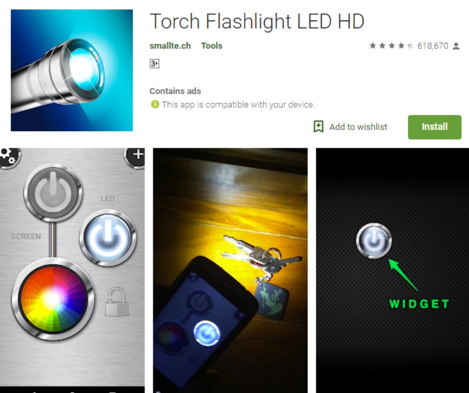 شعلة مصباح يدوي LED HD APK
