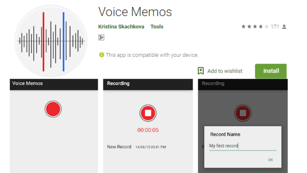 Voice Memos App for android