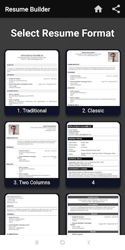 resume builder free cv maker apk download for android