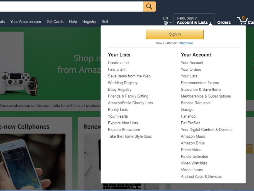 Ga naar je Amazon-account