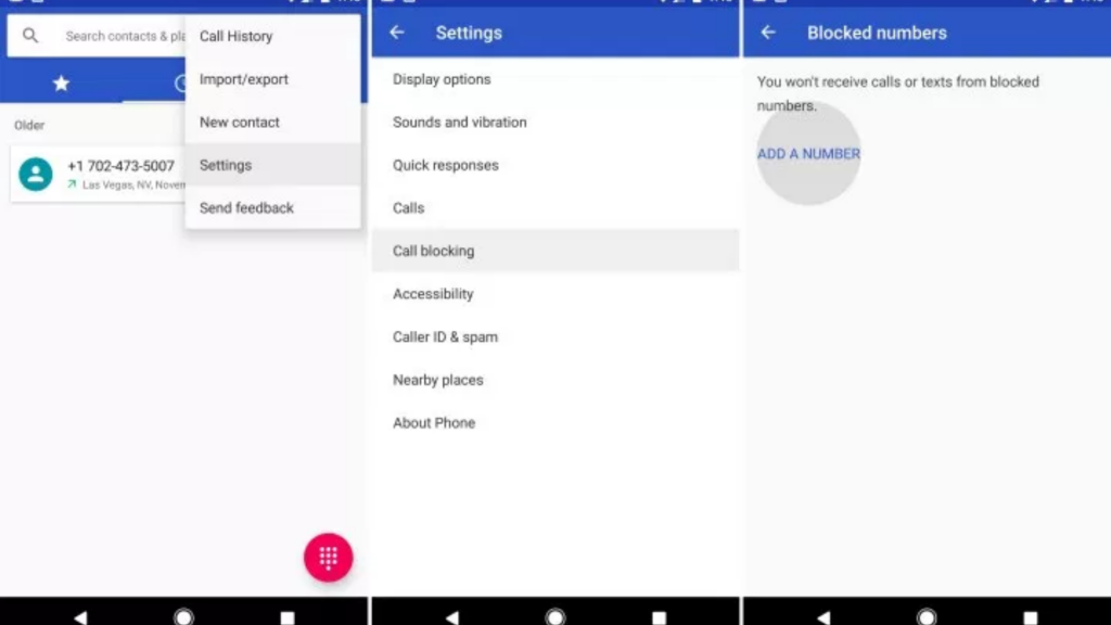 Block Phone Number On Stock Android