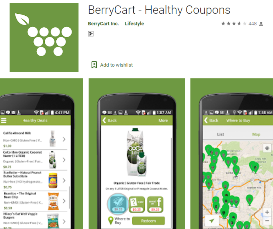 BerryCart Cash Back app