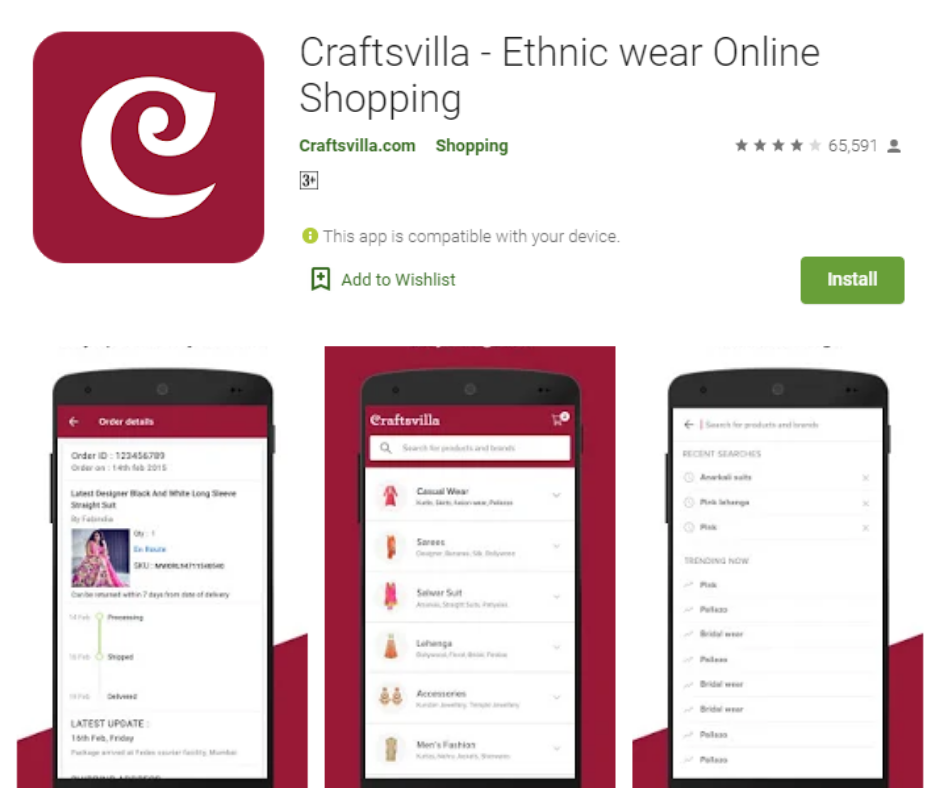 Craftsvilla- Ethnic Wear