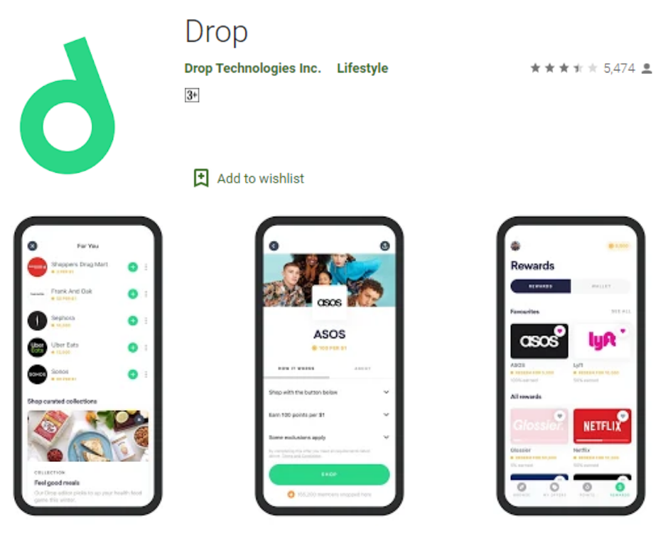 Drop Best Cash Back App
