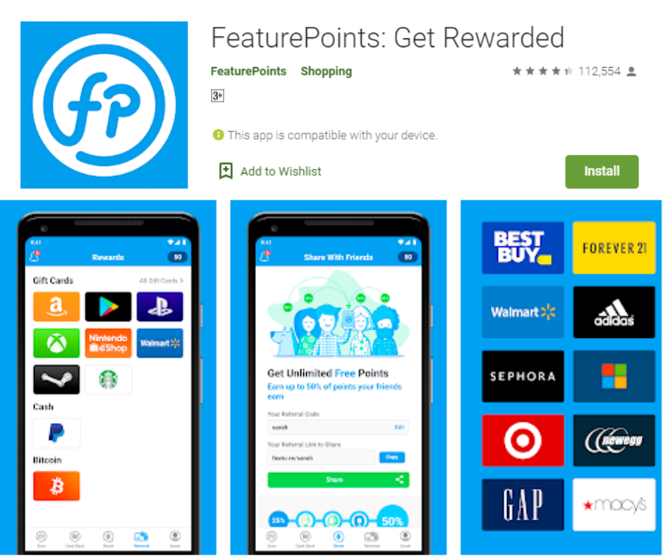 FeaturePoints Free Xbox Gift Cards App