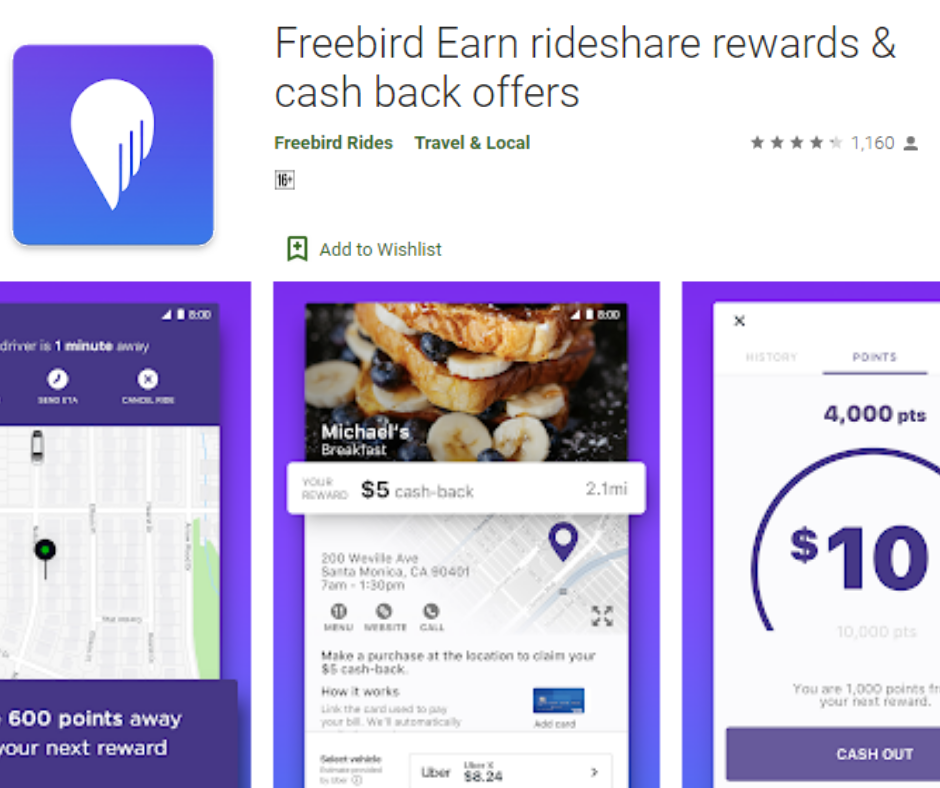 FreeBird Cash Back and Rewards App