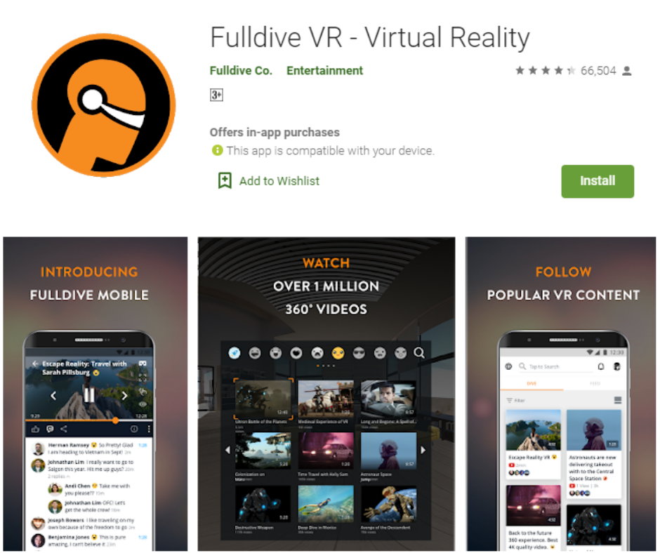 Fulldive VR Virtual Reality Apps
