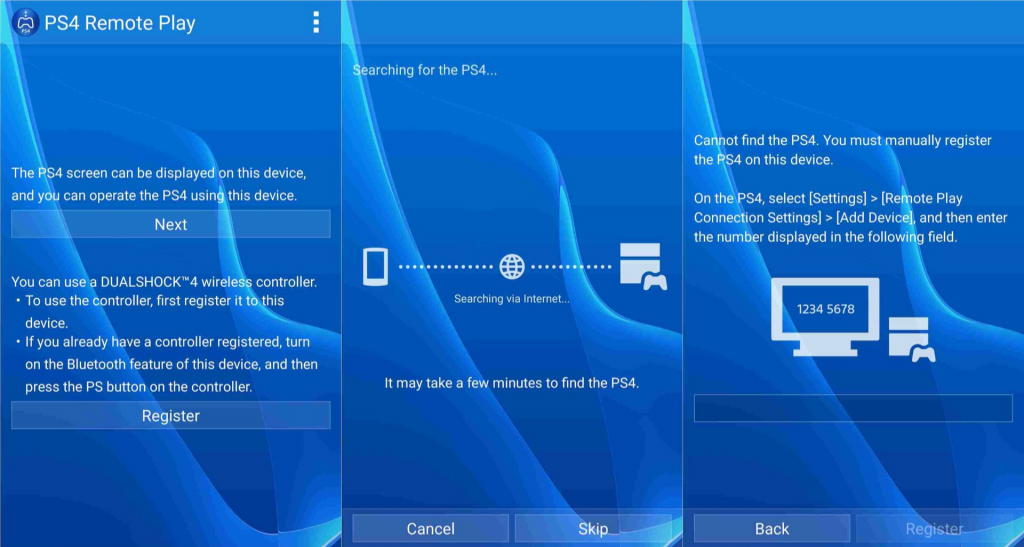 Getting the PS4 Remote Play Application