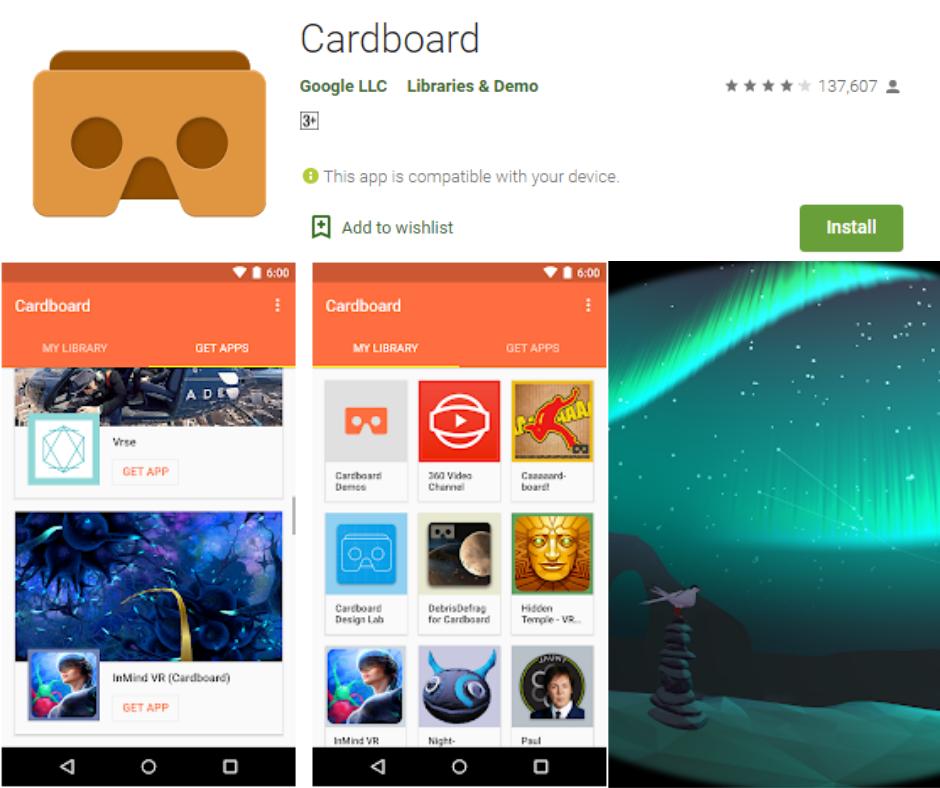 แอพที่ดีที่สุดของ Google Cardboard