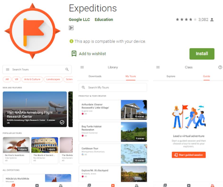 Google Expeditions Najlepsza aplikacja Google Cardboard
