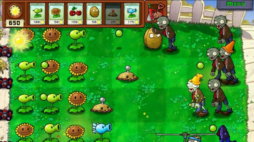 Grow more and more sunflowers Plants Vs Zombies