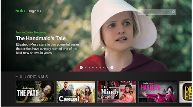 Home Screen of Hulu's Live Android TV