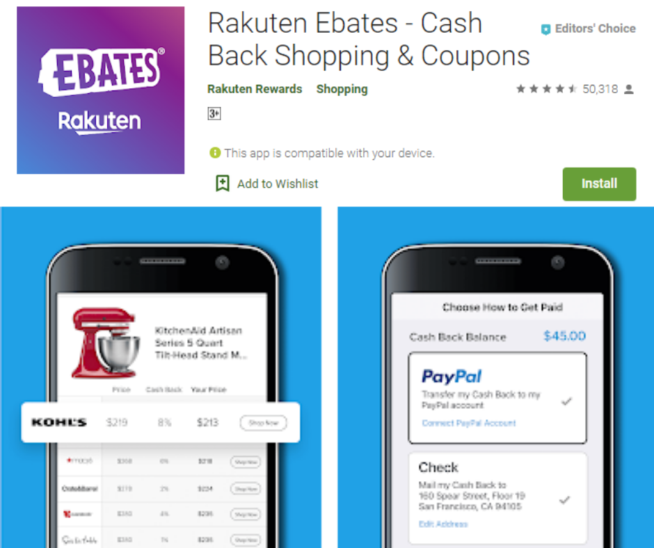 Rakuten Best Cash Back App