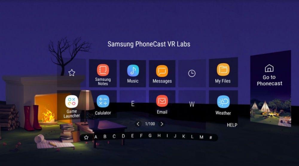 برنامه های Samsung Gear VR