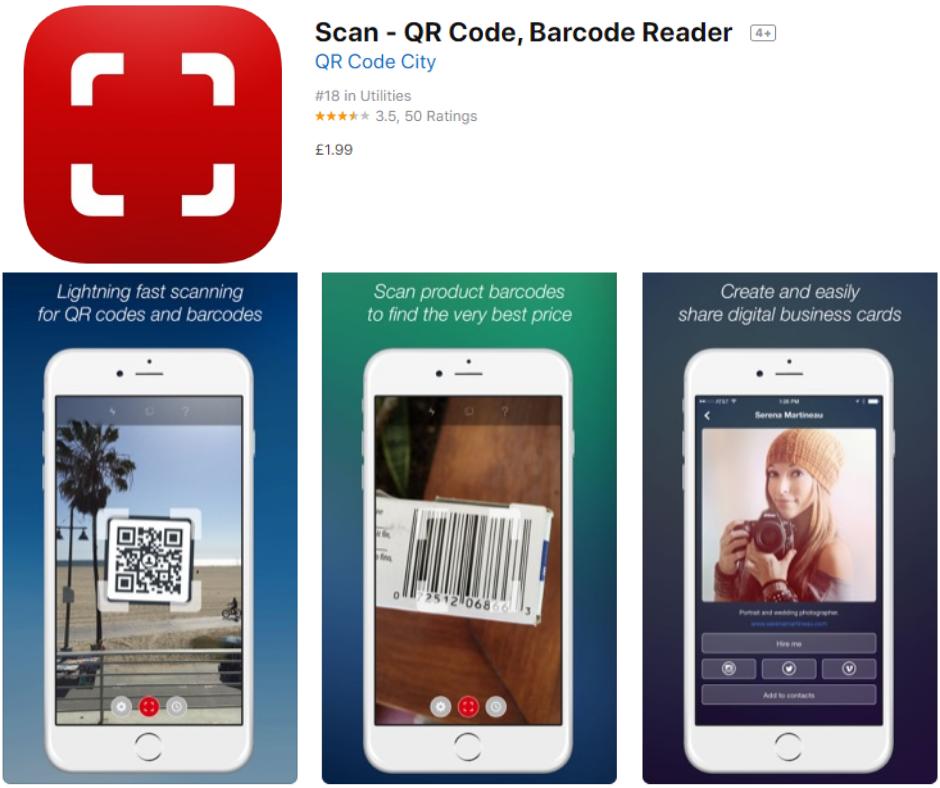 Scan – QR Code, Barcode Reader