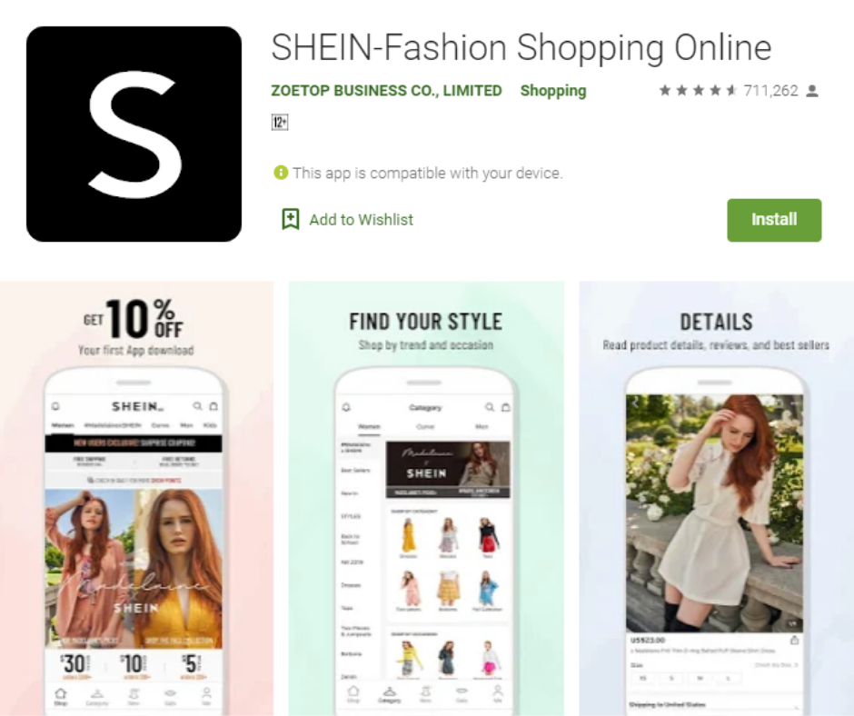 Shein Best Shopping App