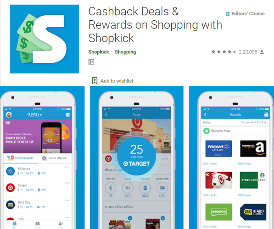ShopKick Coupons and Rewards app
