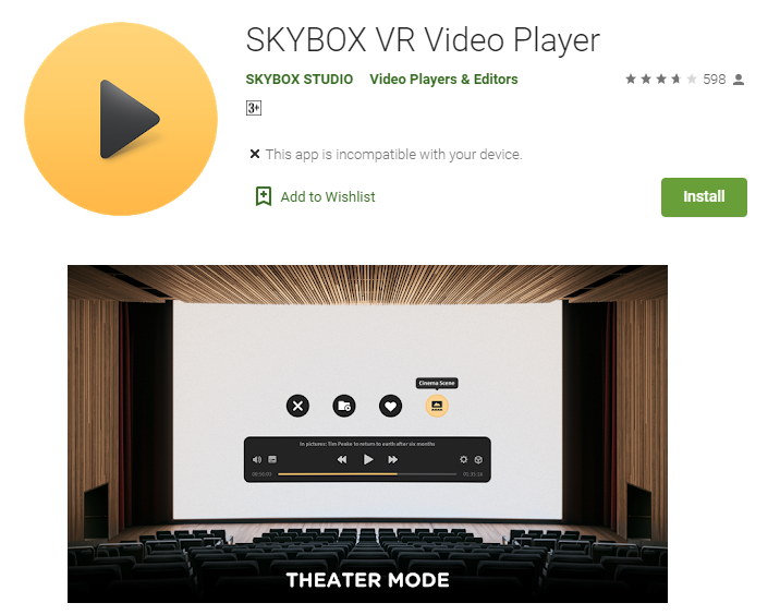 Skybox Samsung Gear VR Apps