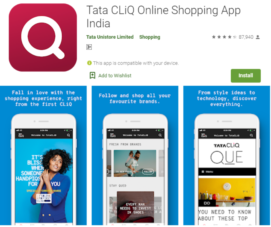 Tata CLiQ Best Shopping App