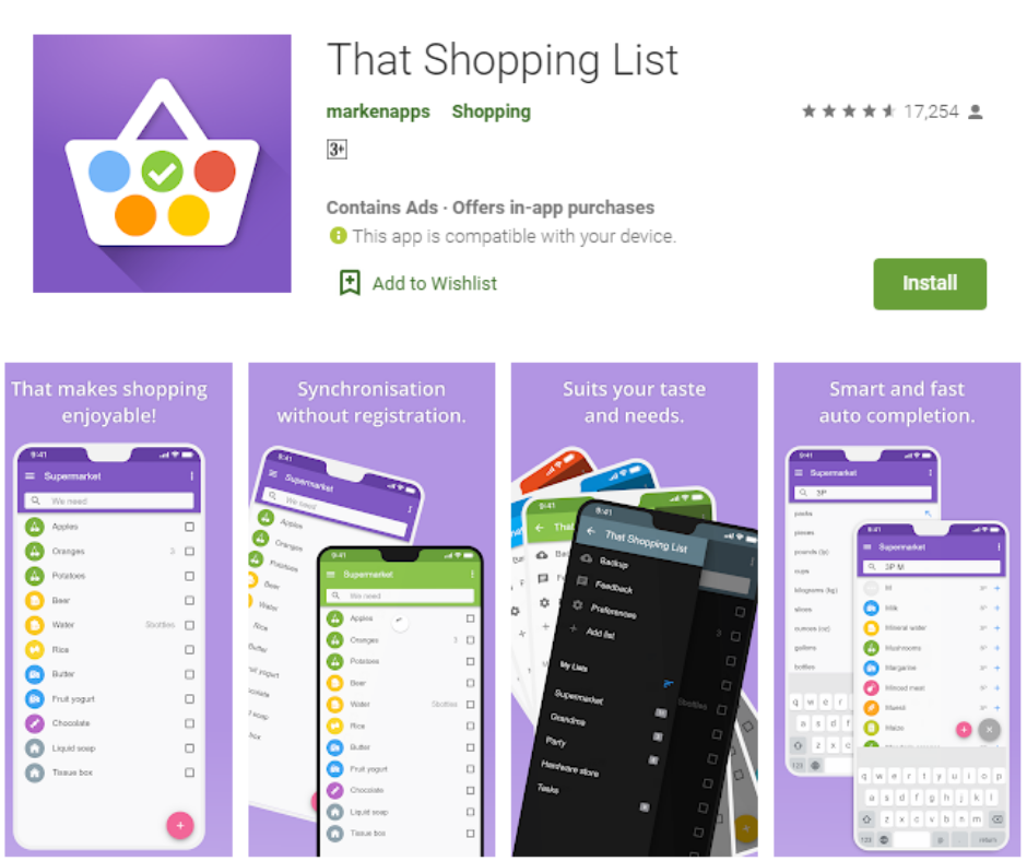 That Shopping List Best Grocery List Apps