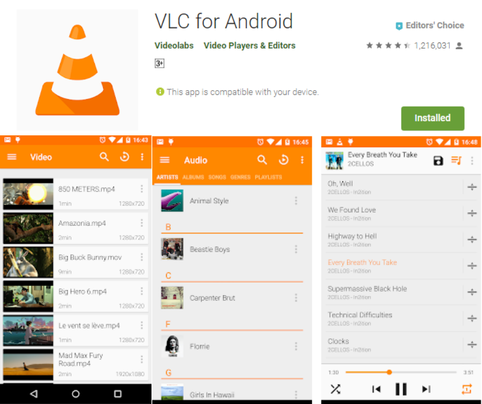 Android အတွက် VLC