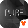 Motyw Pure Black Launcher