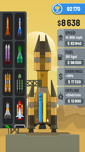 screenshot of com.dpspace.rocketsky