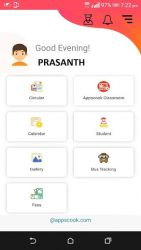 screenshot of com.appscook.parentconnect.ccsbadlapur