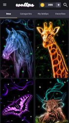 screenshot of com.tpas.neon.animals.wallpaper.moving.backgrounds