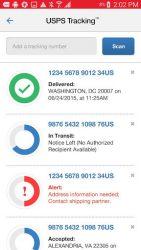 screenshot of com.usps