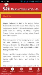 screenshot of magna.bullion.price