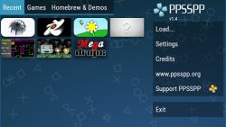 screenshot of org.ppsspp.ppsspp