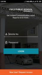 screenshot of parentsalarm.pms.publicschool.moradabad.uttar.pradesh