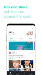 screenshot of co.benx.weverse