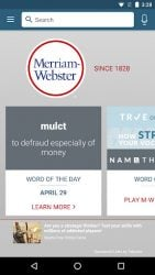 screenshot of com.merriamwebster